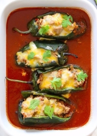 Turkey-Enchilada-Stuffed-Poblanos-Rellenos-1